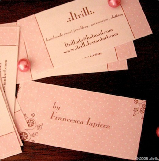 Pink business cards idealstalist pink business cards colourmoves