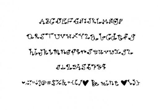 Be My Valentine Font