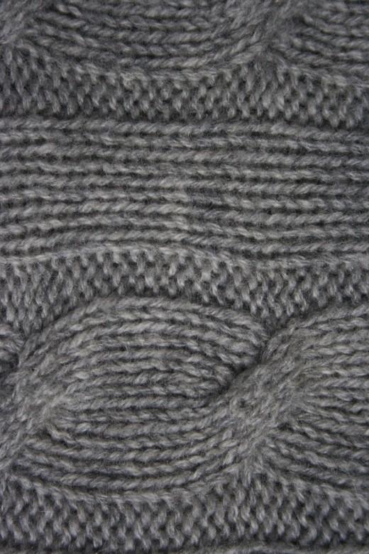 Cashmere Cable Knit Detail