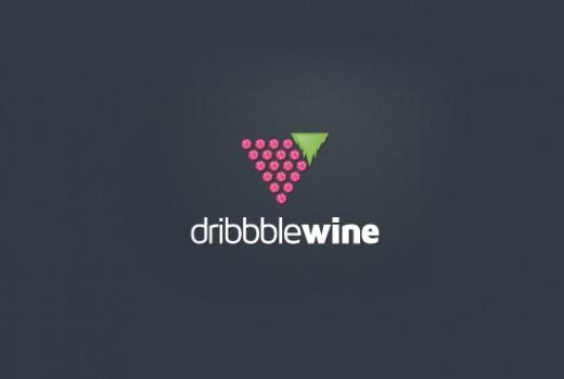 Dribbble Wine Logo Design