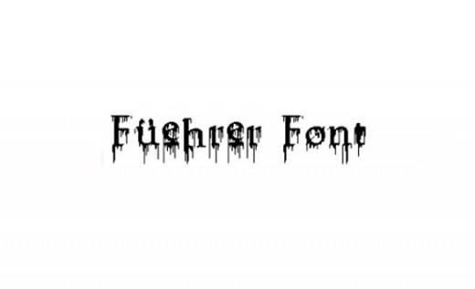Fuehrer Font - best zombie fonts