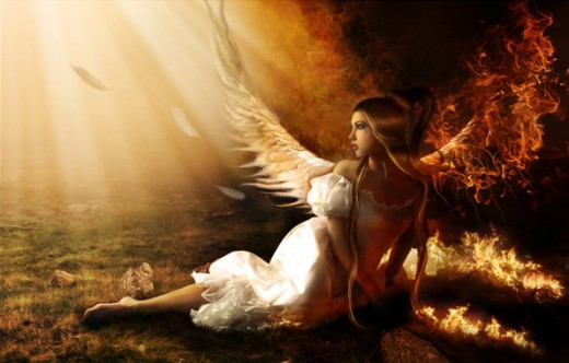 How to Create a Fallen Angel on Fire Photo Manipulation
