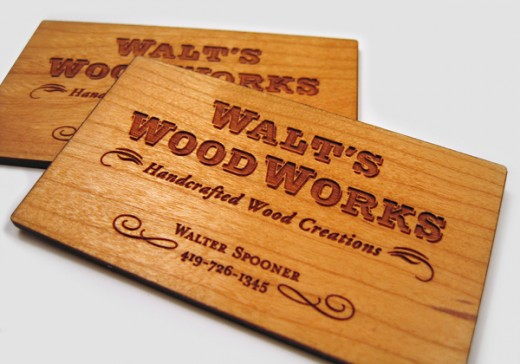 25 most creative business card designs designdune laser engraved cherry wood business cards colourmoves