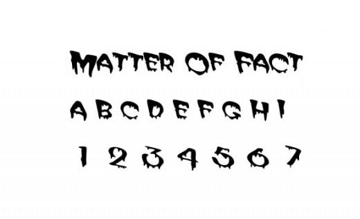 Matter Of Fact Font