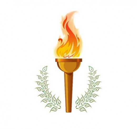 Olympic torch fire logo in Photoshop