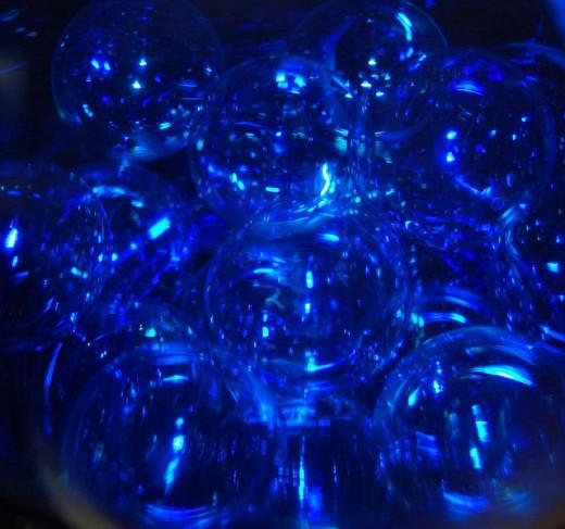Blue bubbles texture