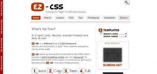 EZ-CSS Tiny CSS Framework For Rapid Layouts
