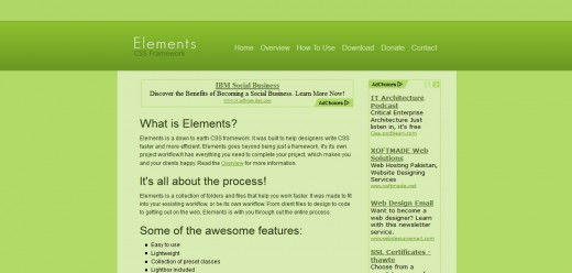 Elements CSS Framework