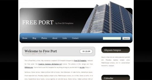 Free Port XHTML And CSS Template