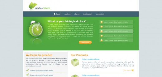 Greefies Solution XHTML And CSS Template