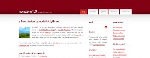 30 Free CSS and XHTML Templates Design - DesignDune