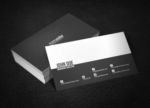 minimal business card - Minimal Business Card