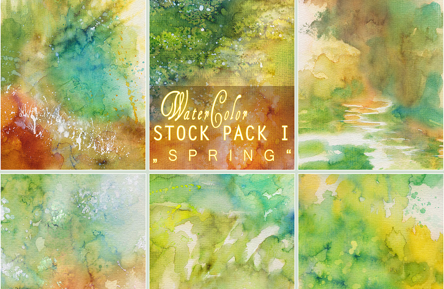 Free Watercolor Textures for Photoshop