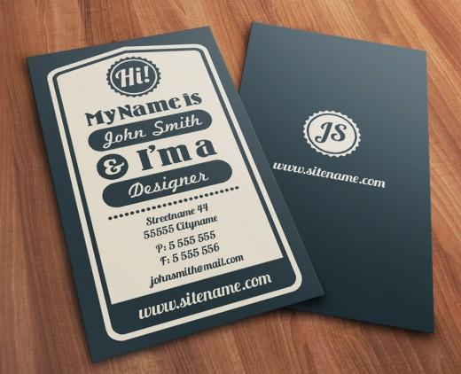 22 Interesting Typography Business Cards - DesignDune