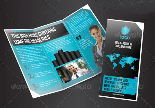 modern brochure design inspiration - 20 cool 3 fold brochures designs inspiration designdune