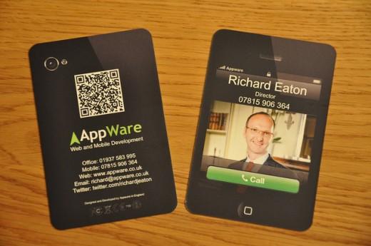 18 fantastic gadget business cards ideas designdune i phone in black as business card colourmoves Images