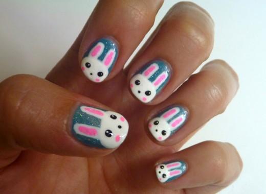 Cute Bunny Nail Art - 22 Animal Inspired Nail Art Designs - DesignDune