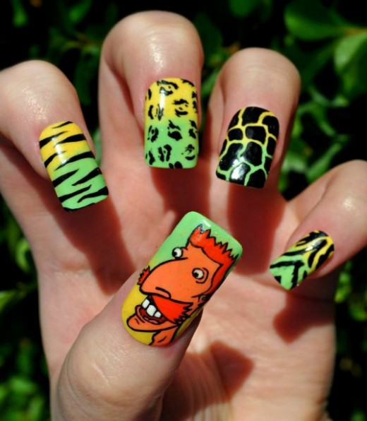 Nigel Thornberry Nail Art