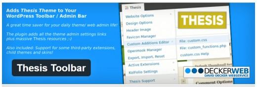 Thesis toolbar
