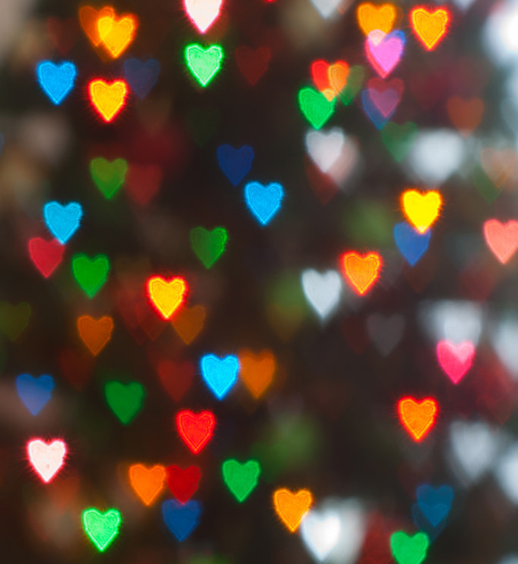 Free Heart Bokeh Photoshop Textures